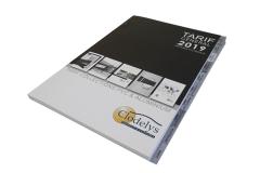 Catalogue avec découpe d'onglets