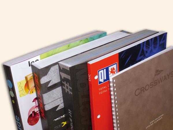 Impression de diivers catalogues, brochures, tous types de finitions.